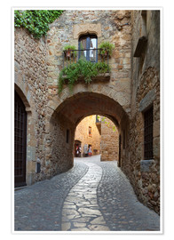 Poster  Alley in Pals, Catalonia - Stuart Black
