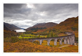 Poster Glenfinnan Viaduct in the Scottish Highlands