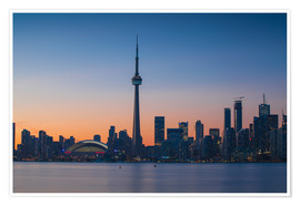 Poster  View of CN Tower and city skyline, Toronto, Ontario, Canada, North America - Jane Sweeney