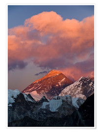 Poster  Mount Everest & Mount Lhotse