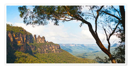 Poster  Panoramic photo of the Three Sisters - Matthew Williams-Ellis