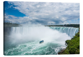 Toile  Tourist boat in the mist of the Horseshoe Falls (Canadian Falls), Niagara Falls, Ontario, Canada, No - Michael Runkel