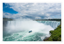 Poster  Tourist boat in the mist of the Horseshoe Falls (Canadian Falls), Niagara Falls, Ontario, Canada, No - Michael Runkel