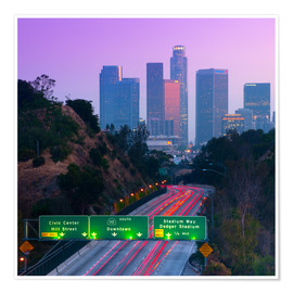 Poster  Route 110, Los Angeles, California, United States of America, North America - Alan Copson