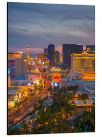 Tableau en aluminium  The Strip, Las Vegas, Nevada, United States of America, North America - Alan Copson