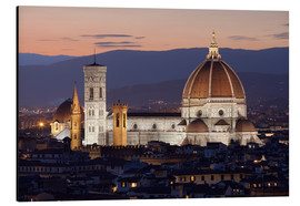 Tableau en aluminium  Duomo at night from Piazza Michelangelo, Florence, UNESCO World Heritage Site, Tuscany, Italy, Europ - Stuart Black