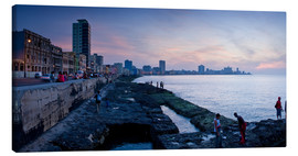 Toile  The Malecon, Havana, Cuba, West Indies, Central America