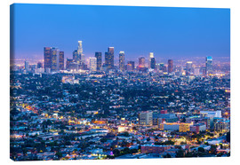 Toile  Cityscape of the Los Angeles skyline at dusk, Los Angeles, California, United States of America, Nor - Chris Hepburn