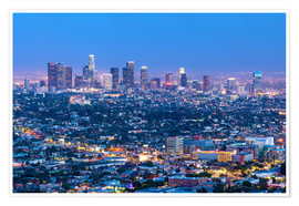 Poster  Cityscape of the Los Angeles skyline at dusk, Los Angeles, California, United States of America, Nor - Chris Hepburn
