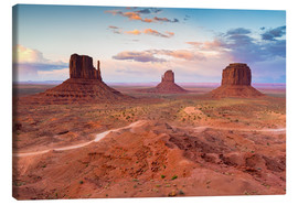 Toile  Monument Valley at dusk - Chris Hepburn