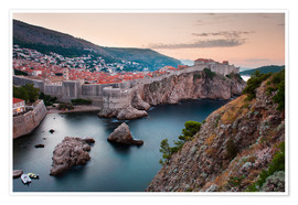 Poster  Dubrovnik at sunrise - Matthew Williams-Ellis