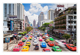 Poster  Colourful cars in Bangkok - Gavin Hellier