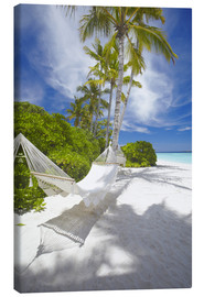 Tableau sur toile  Hammock on tropical beach - Sakis Papadopoulos
