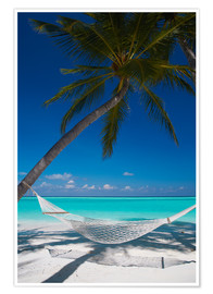 Poster  Hammock on a tropical beach - Sakis Papadopoulos
