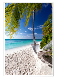 Poster  Hammock on tropical beach - Sakis Papadopoulos