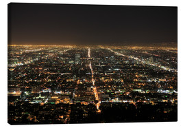 Toile  Los Angeles at night - Wendy Connett