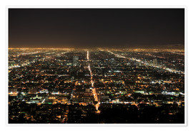 Poster  Los Angeles at night - Wendy Connett