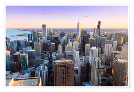 Poster  Vue sur Chicago - Amanda Hall
