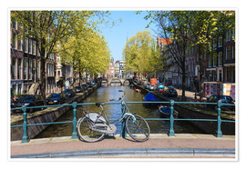 Poster  Canal à Amsterdam - Amanda Hall