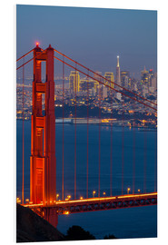 Tableau en PVC  Pont du Golden Gate - Miles Ertman