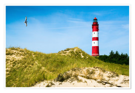 Poster  Amrum Lighthouse - Reiner Würz RWFotoArt