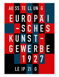 Poster  Europäisches Kunstgewerbe Leipzig, 1927 - THE USUAL DESIGNERS