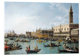 Verre acrylique  Le port de San Marco le jour de l'Ascension - Bernardo Bellotto (Canaletto)