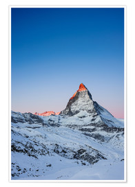 Poster Matterhorn at sunrise from Riffelberg