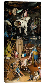 Toile  Garden of Earthly Delights, Hell - Hieronymus Bosch