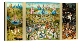 Alu-Dibond  The Garden of Earthly Delights - Hieronymus Bosch