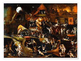 Poster  The harrowing of hell - Hieronymus Bosch