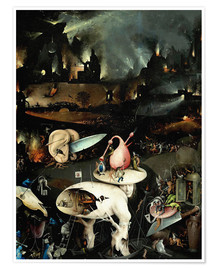 Poster  Garden of Earthly Delights, Hell (detail) - Hieronymus Bosch