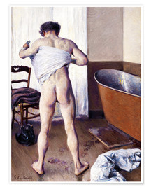 Poster  Homme au bain - Gustave Caillebotte