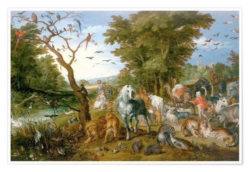 Poster Noah leads the animals into the ark