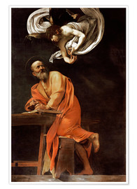 Michelangelo Merisi (Caravaggio) - The inspiration of St Matthew