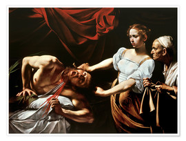 Poster  Judith and Holofernes - Michelangelo Merisi (Caravaggio)