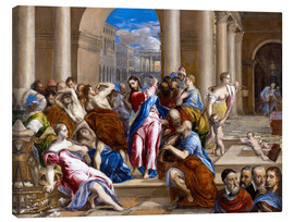 Tableau sur toile  Christ expels traders from the temple - Dominikos Theotokopoulos (El Greco)