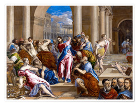 Poster  Christ expels traders from the temple - Dominikos Theotokopoulos (El Greco)