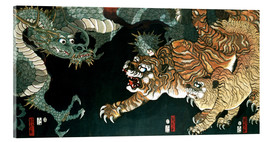 Verre acrylique  A dragon and two tigers - Utagawa Sadahide