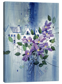 Tableau sur toile  View with clematis - Franz Heigl