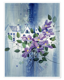 Poster View with clematis