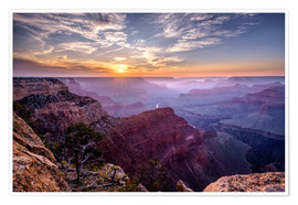 Poster  Sunset at Grand Canyon - Daniel Heine