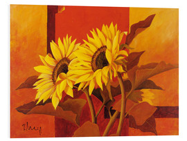 Tableau en PVC  Two sunflowers III - Franz Heigl