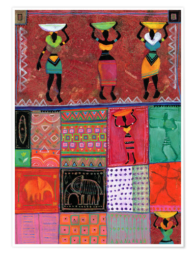 Poster Patchwork africain