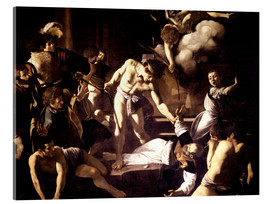 Tableau en verre acrylique  The Martyrdom of Saint Matthew - Michelangelo Merisi (Caravaggio)