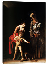 Tableau sur toile  Madonna with the Serpent - Michelangelo Merisi (Caravaggio)