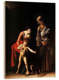 Tableau en bois  Madonna with the Serpent - Michelangelo Merisi (Caravaggio)