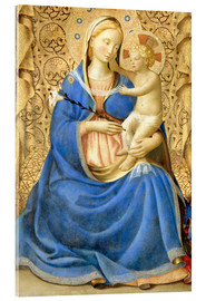 Tableau en verre acrylique  Madonna with Child - Fra Angelico