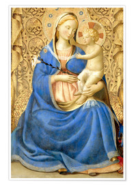 Poster  Madonna with Child - Fra Angelico