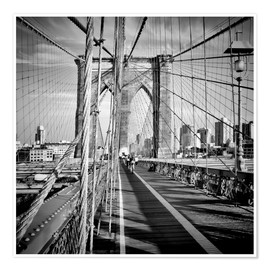 Poster NYC Brooklyn, le charme du pont
